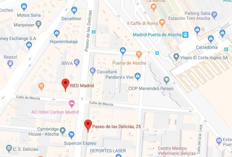 direccion-ised-Madrid-mapa